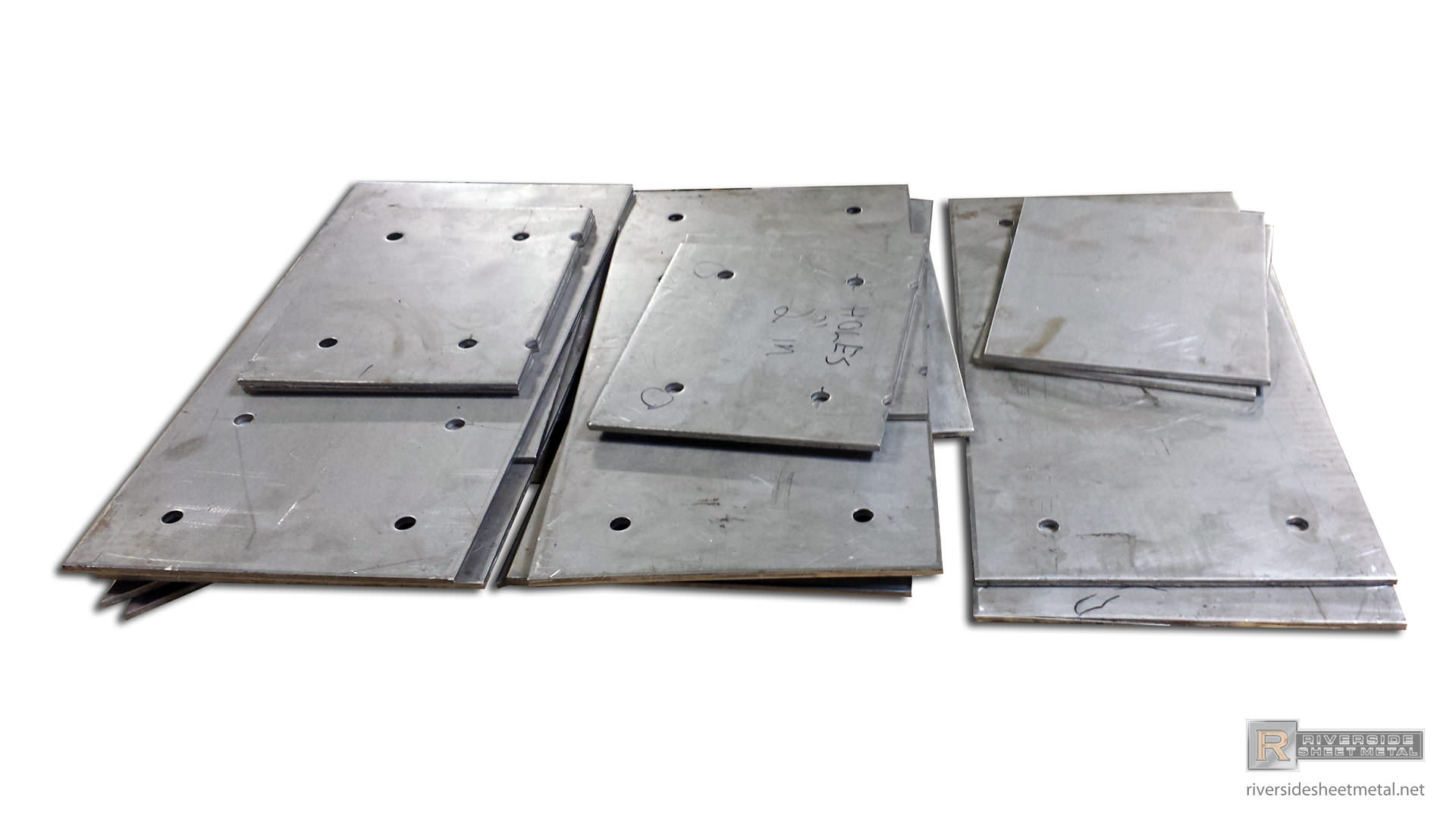Steel Plates With Pre Drilled Holes For Parts Fabrication