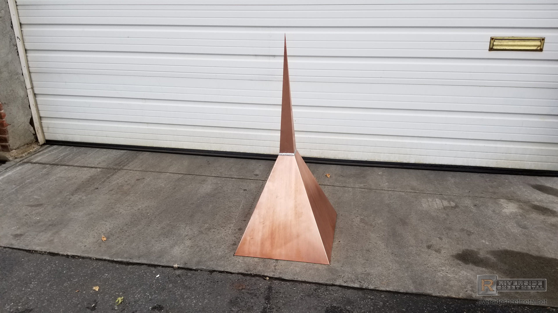 Simple 4 Sided Modern Copper Finial Fi001