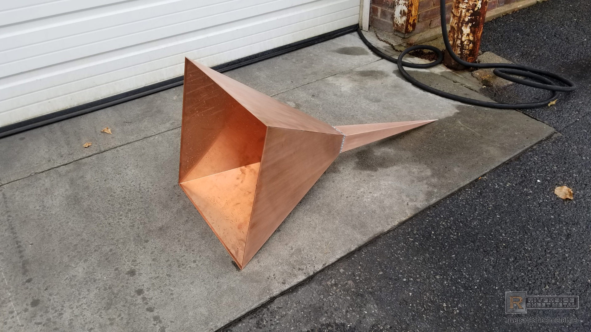 Simple 4 Sided Modern Copper Finial