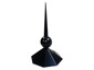 Aluminum octagonal finial with ball painted back - view 1