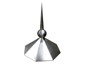 Octagon shaped aluminum finial with welded ball - view 1