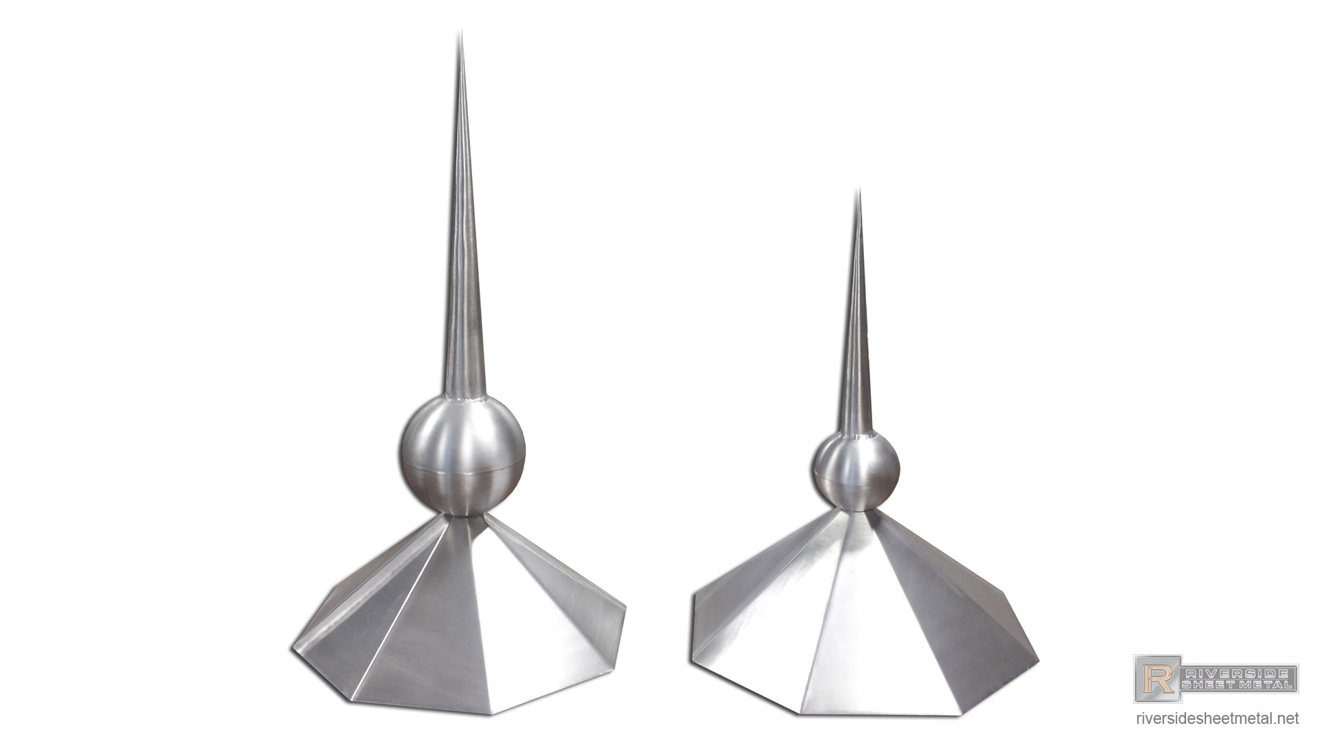Octagon Shaped Aluminum Finial With Welded Ball Fi002