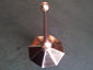 Octagon shaped copper finial with 2 copper balls - view 3