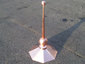 Octagon shaped copper finial with 2 copper balls - view 4