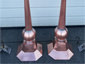 Pitched octagonal copper finial with ball and cone - view 6