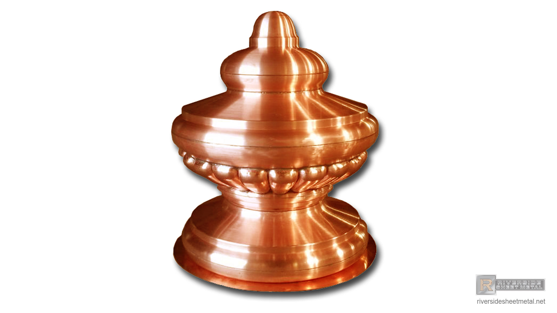Detailed Copper Finial Custom Made Fi006