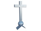 Cross finial with ball and pitched base - view 1