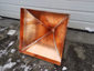 Square copper finial with curved design and ball - view 4