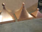 Square copper finial with curved design and ball - view 5
