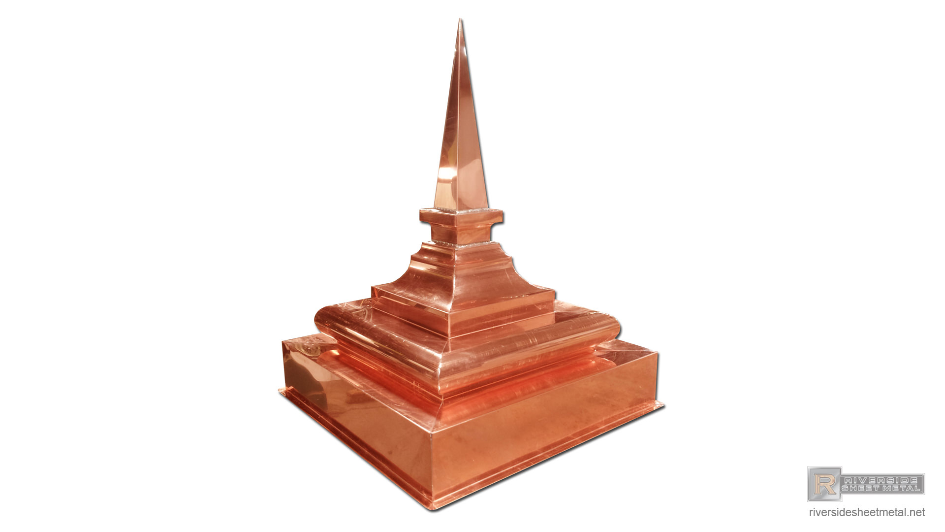 Pyramid Finial Custom Made With Copper Fi019