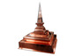 Pyramid finial custom made with copper - view 2