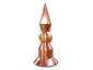 Layered copper finial with round base and ball - view 1