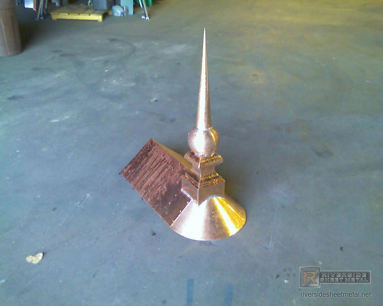 Copper Finial With Copper Ball To Attach To Ridge Cap Fi023