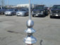 Aluminum octagon finial with ball - view 3