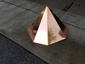 Simple octagonal copper finial with flat top - view 2