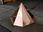 Simple octagonal copper finial with flat top - view 3