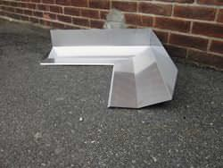 Custom made inside miter for masonry stainless steel