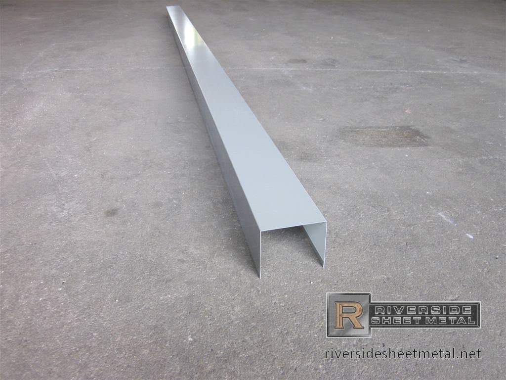 Hemmed U Channel Flashing Flashing Metal