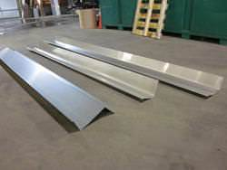 Stainless steel flashing metal masonry