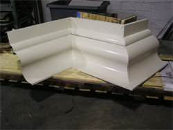 Custom made cornice with almond aluminum