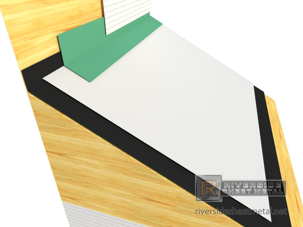 Head Wall Flashing For Roofing Copper Aluminum Steel
