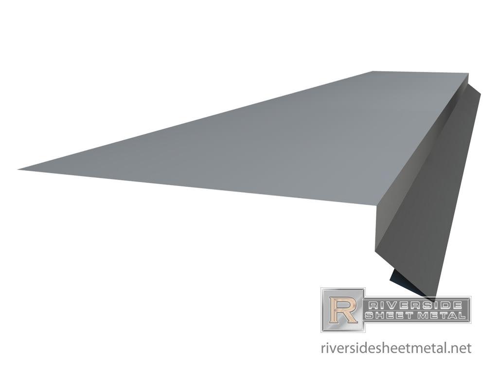 Custom Drip Edge Masonry Flashing Metal With Hem Profile View 2