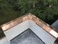 Custom copper parapet cap installation photo - view 1