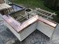 Custom copper parapet cap installation photo - view 2