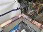 Custom copper parapet cap installation photo - view 3