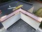 Custom copper parapet cap installation photo - view 5