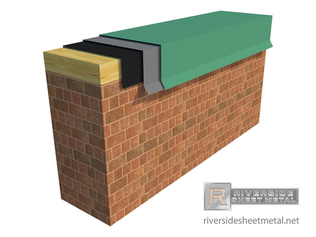parapet wall cap with hook strip 1