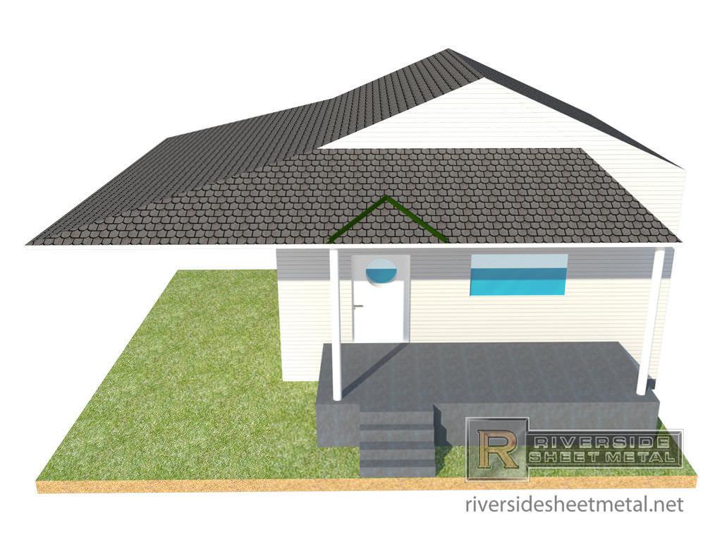 ... Rain Diverter Roof Installation   View 1 ...