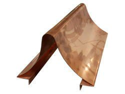Custom radius copper ridge cap example - view 1