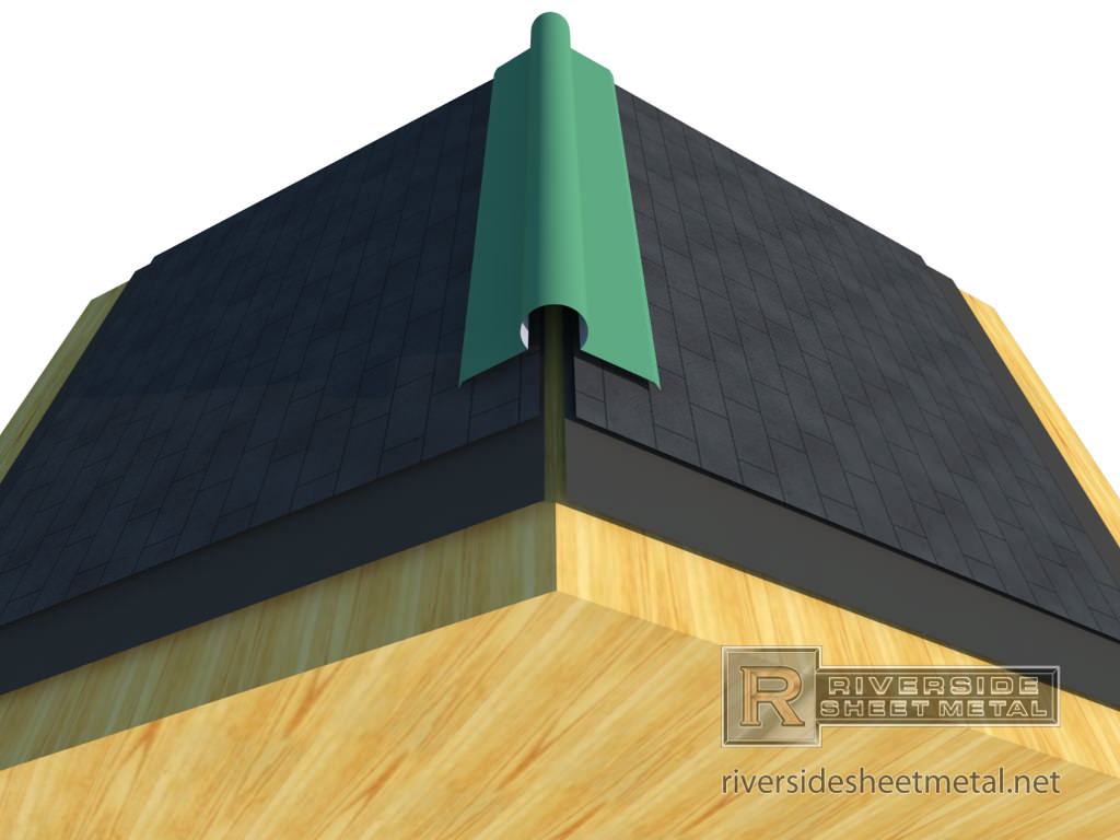 Ridge Cap - Straight, Vented or Round. Copper and More