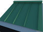 Simple Ridge Cap on metal roofing system - view 1