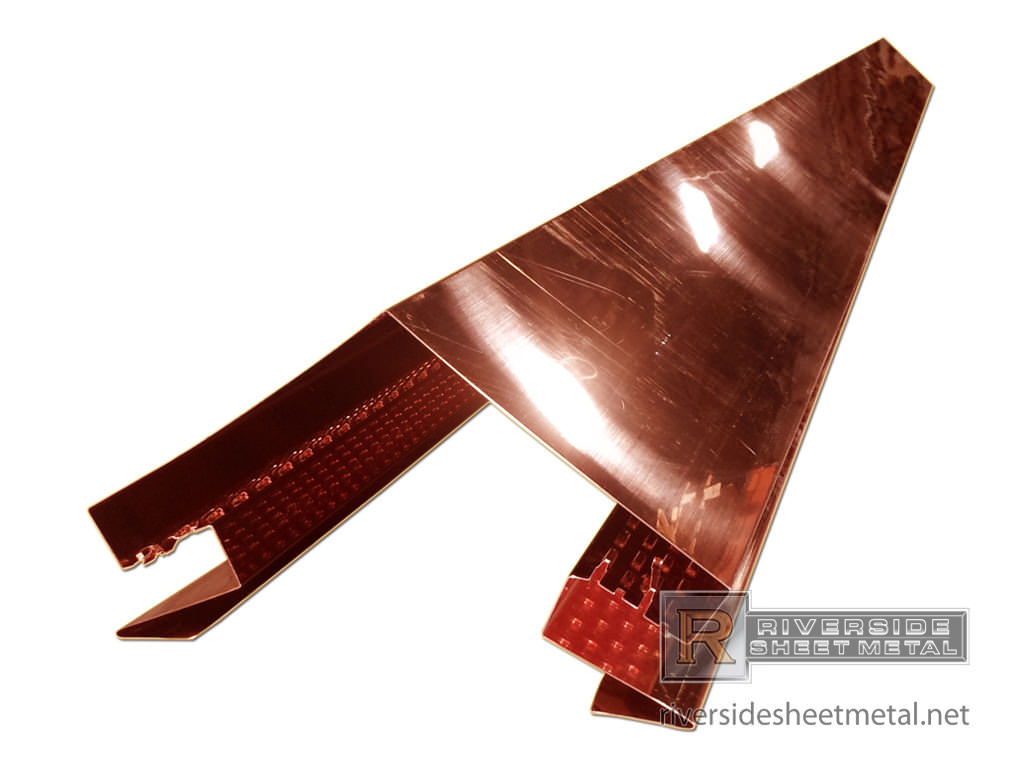 Vented Copper Ridge Cap Custom Made To Order Boston Ma