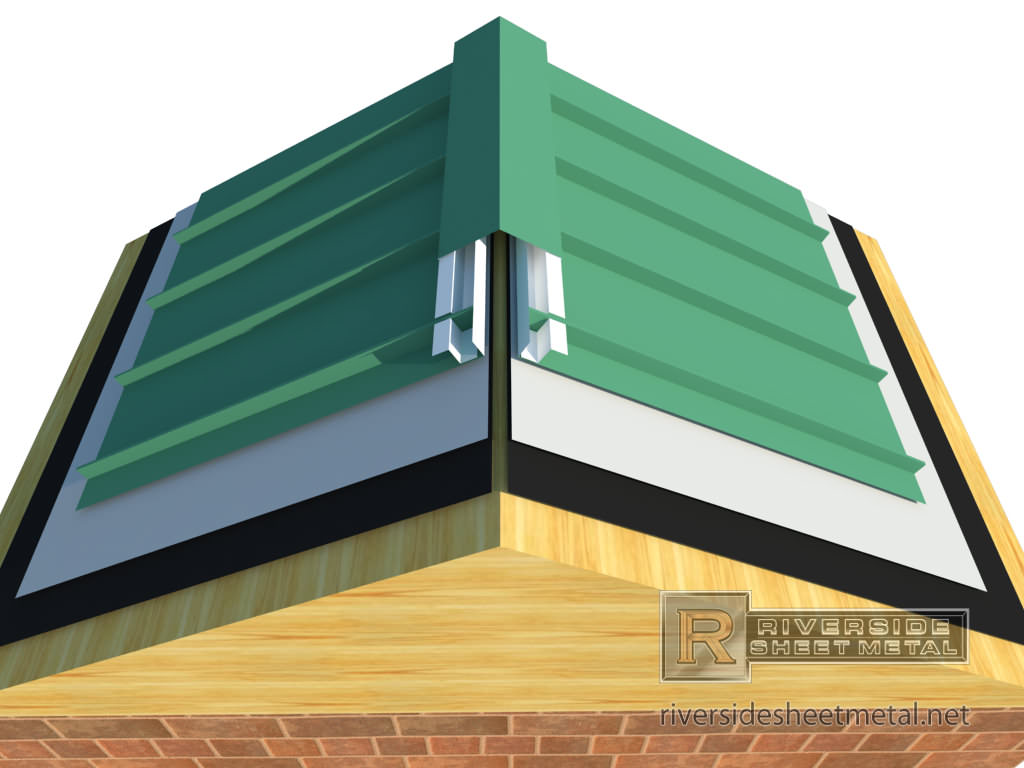 ... Z Channel For Metal Roofing With Ridge Cap Installation   View 3 ...