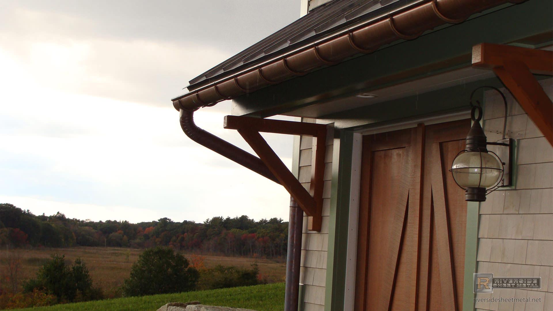 6 Quot Half Round Copper Gutter Installation With Under Mount
