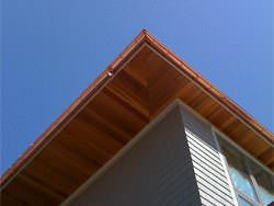 Half round copper gutter installation