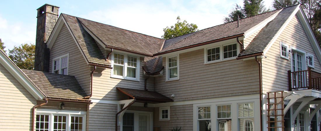 Copper gutter and downspout installation services