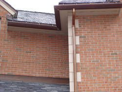 Custom ogee copper gutter installation
