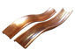 Custom double bead half round radius copper gutter - view 2
