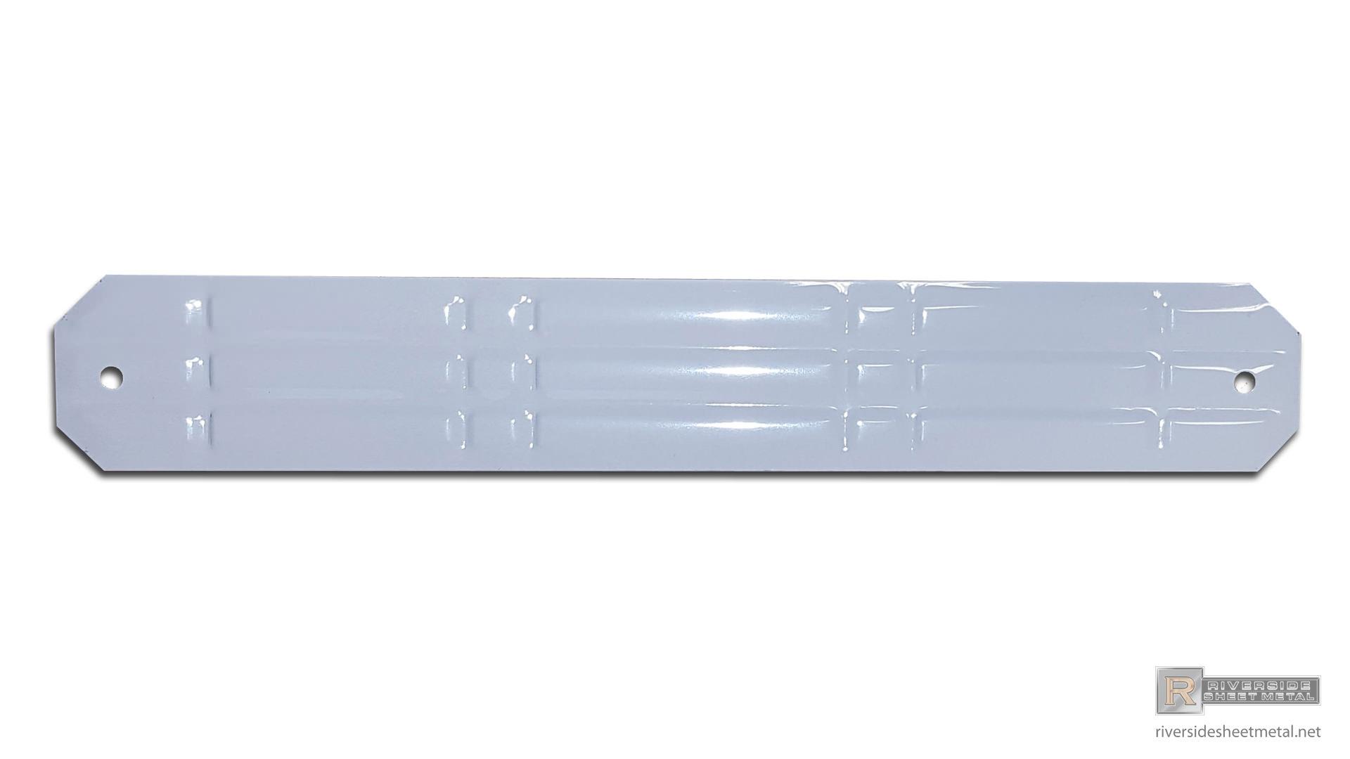 White Aluminum Ornamental Pipe Band Downspout 2 Quot X 3 Quot