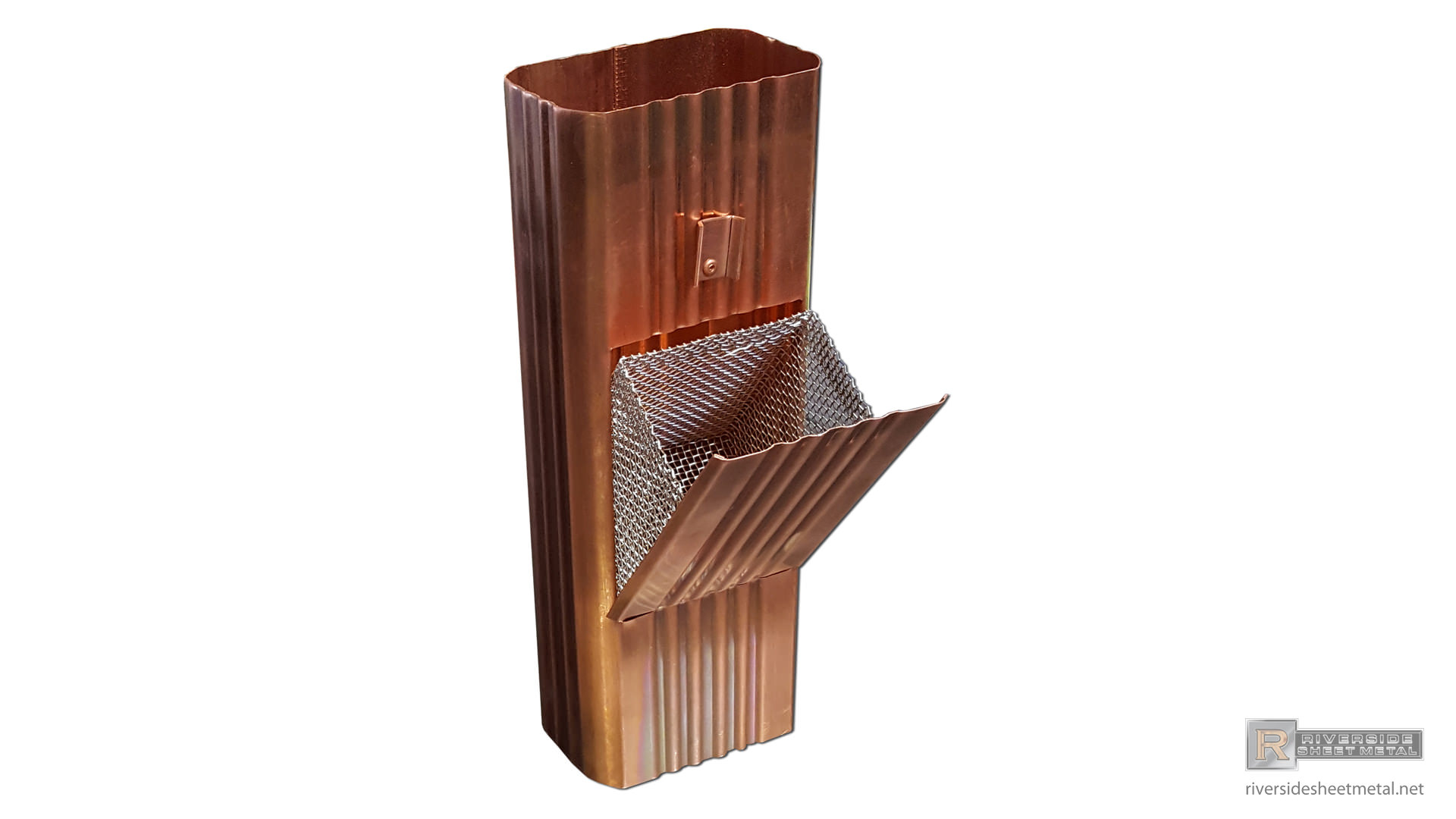 Square Corrugated Copper And Aluminum Downspout Cleanout