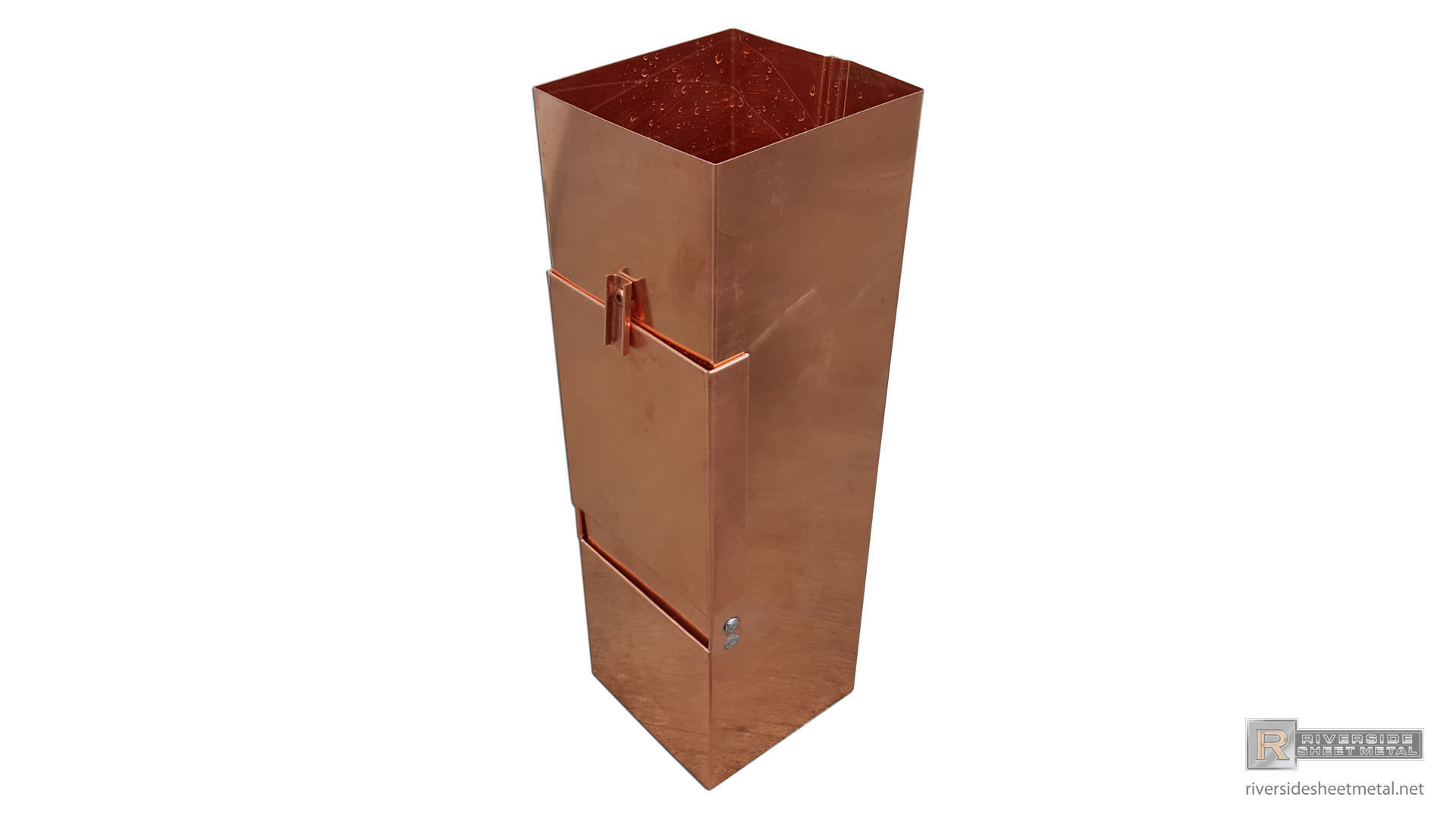 Square Smooth Copper And Aluminum Downspout Cleanout 2