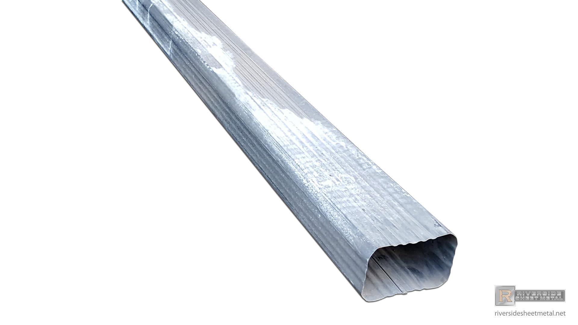 Corrugated Aluminum Or Copper Gutter Downspout 2 Quot X 3