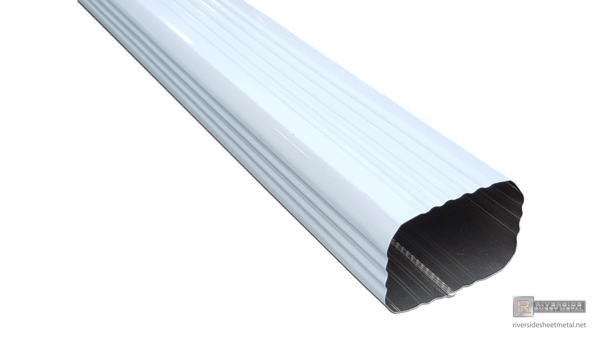 corrugated-square-white-aluminum-gutter-