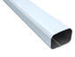 Square corrugated white aluminum gutter downspout