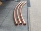 Custom plain round radius copper downspouts - view 3