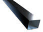 Plain smooth square black aluminum gutter downspout
